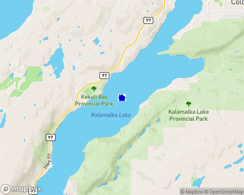 Kalamalka Lake Map