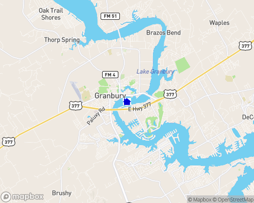 Lake Granbury Map