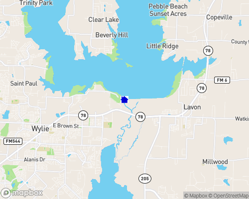 Lake Lavon Map