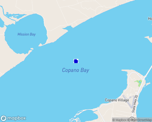 Gulf Coast - Copano Bay Map