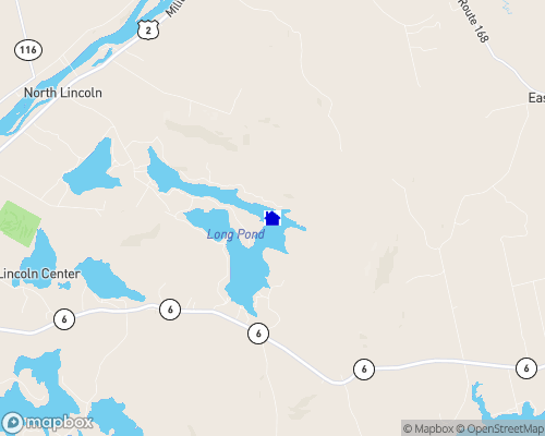 Long Pond - Penobscot County Map