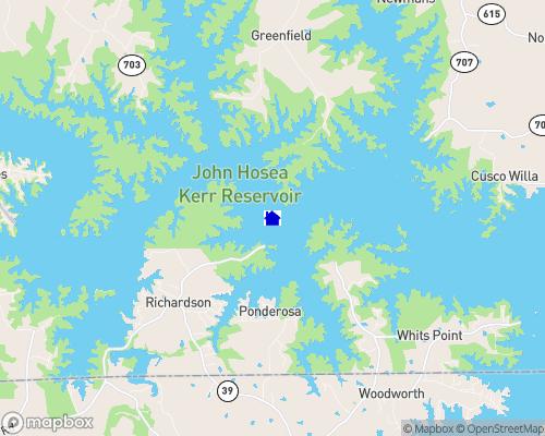 Kerr Lake - Buggs Island Lake Map