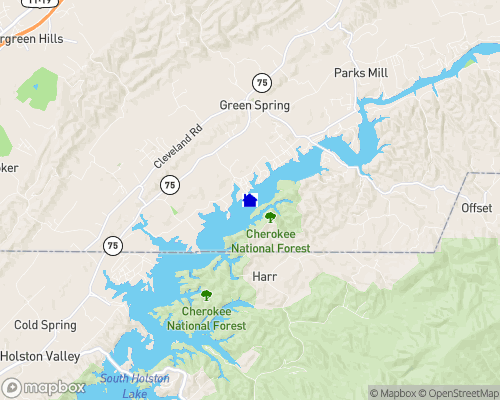 South Holston Lake Map