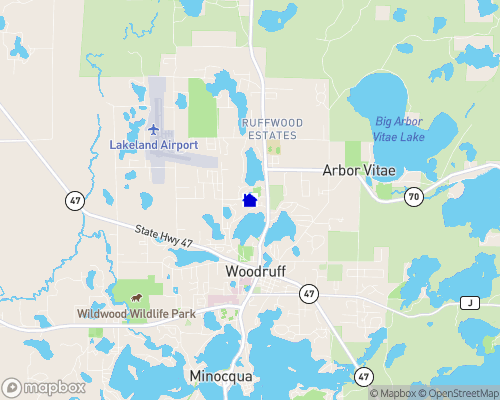 Little Bass Lake - Vilas County Map