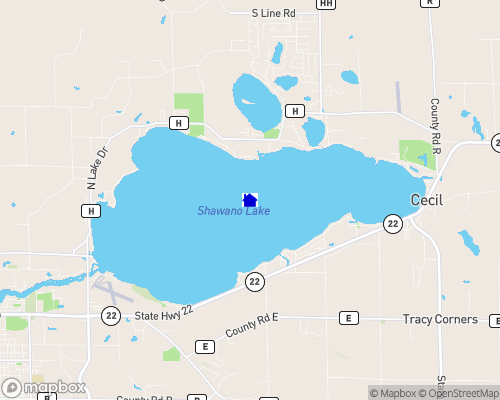 Shawano Lake Map