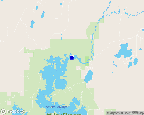 Willow Flowage Map