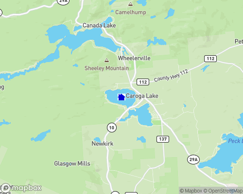West Caroga Lake Map